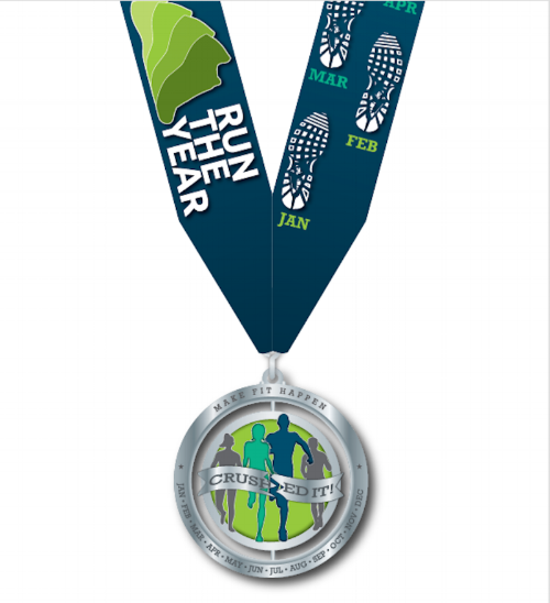 When you complete the challenge, spin the medal around so it becomes a FINISHER medal. Display it with pride!