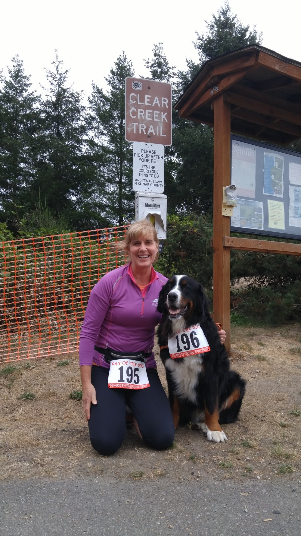 Rhonda and Scout at the Day of the Dog 5k