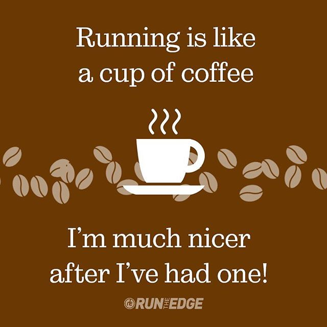 Running makes us a little nicer in the morning! 😉 #runnerproblems #coffeeaddict