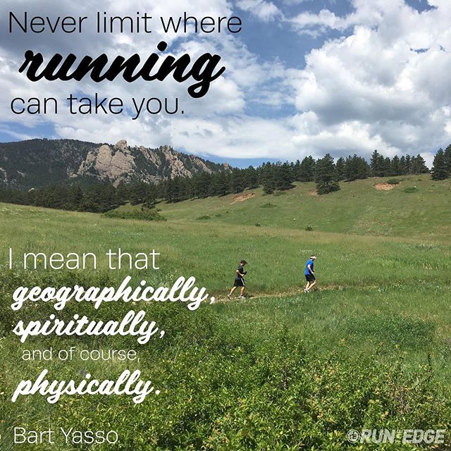 Never limit where #running can take you. #motivation #inspiration #runningquote
