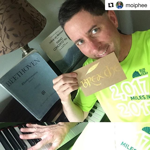 """Congratulations to our final #rtyselfie challenge winner @moiphee 🤗 We asked participants to show us their """"other side"""" for a day because we know we are more than just runners! We love your other side Jeremy!  #Repost @moiphee (@get_repost) ・・・ My Other Side: Creative musician making Beethoven breathe."""