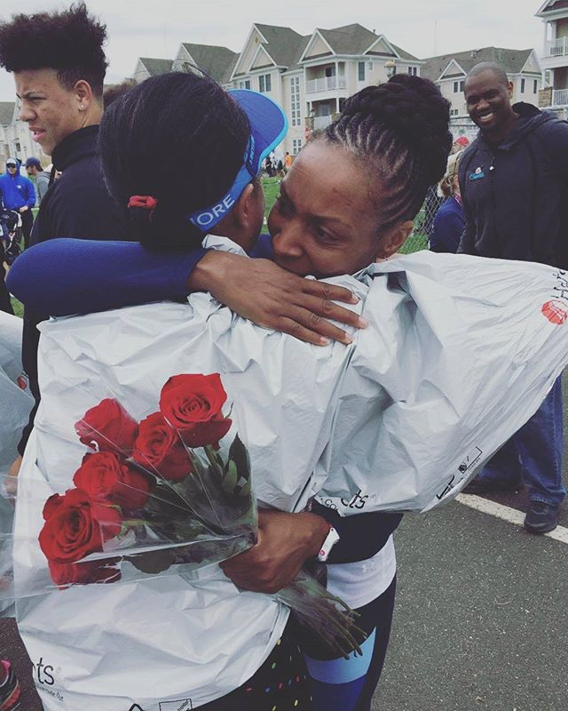 Congratulations to another selfie challenge winner, Michelle Leblanc! This sweaty hug held extra special meaning after these friends completed their first marathon. #rtyselfie