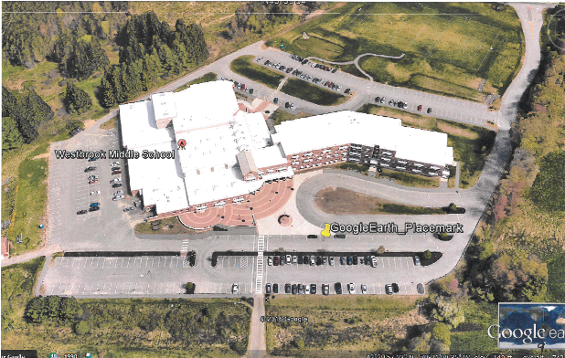 Aerial photo of Westbrook Middle School