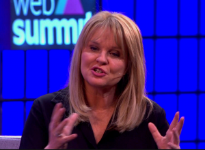 Dr Mary Aiken speaking at the Web Summit