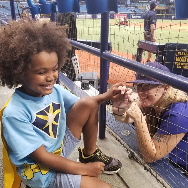 Wouldn't wanna spend my birthday any other way!  Thanks to Auntie @snryder for the photo and for bringing my Man to the game. . . . . . .  #RaysWin #myspawn #mykidiscoolerthanme #RaysUp #raysbaseball #TampaBayRays #mlb #TampaBayBaseball #tampaphotographer #tampaphotography #tampa #tampabay #sportsshooter #sports #sportsphotography #sportsphotographer #baseball #baseballplayer #teamcanon #instagood #illgrammers #mlbphotos #family #love