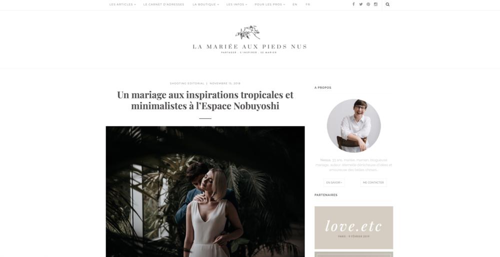 publication presse blog mariage la mariée aux pieds nus Freyia Photography mariage végétal tropical minimaliste.png