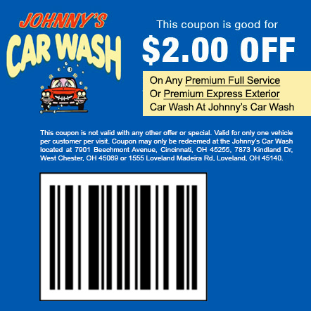 Coupon - Johnny's Car Wash Offer