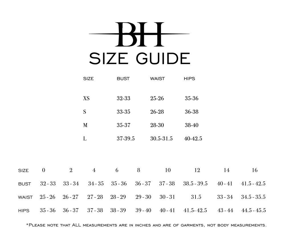 Black Halo Size Guide — heidi elnora