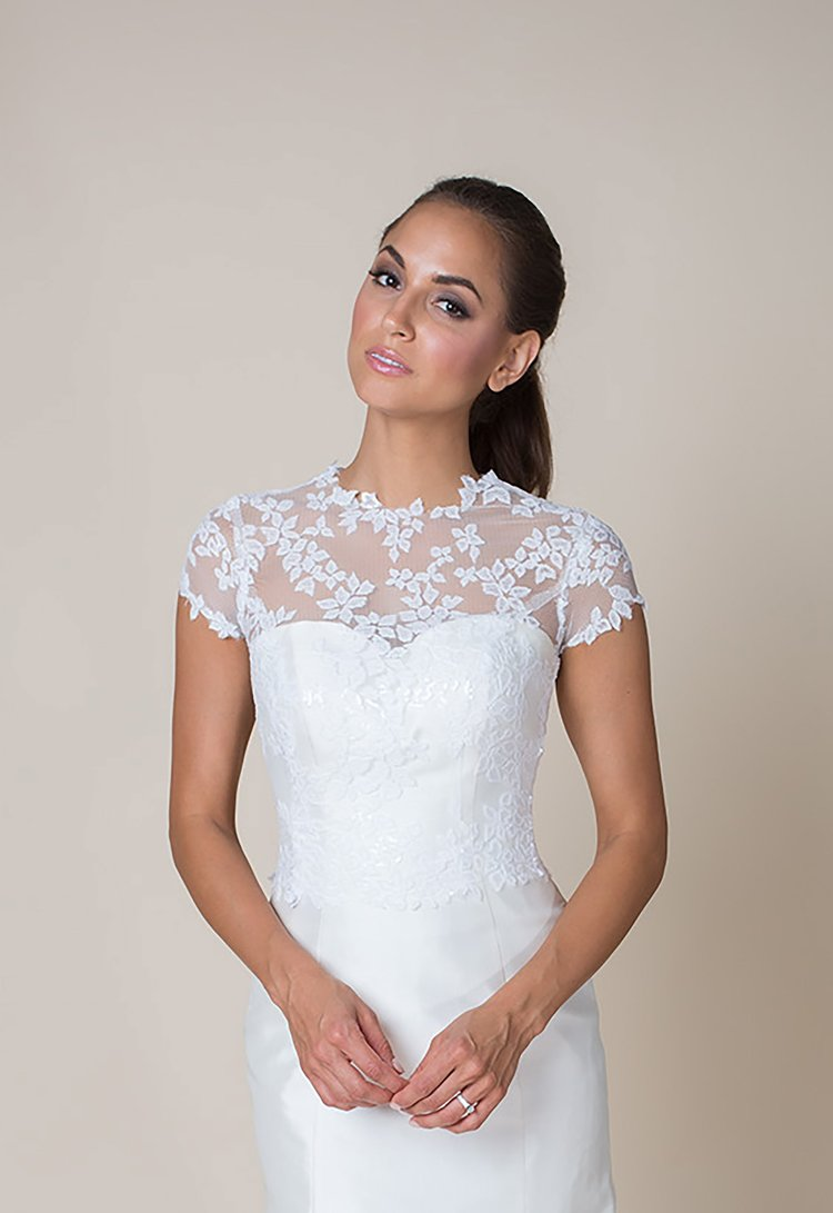 Build a bride tops heidi elnora catherine cap sleeve cover up junglespirit Choice Image