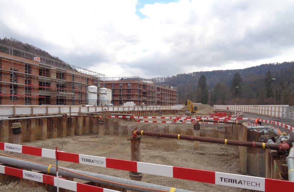 Boll Immobilien Neubauprojekt Überbauung NIDO Sennhof Winterthur Verkauf Eigentumswohnungen an der Töss Ein Nest für die ganze Familie Baufortschritt