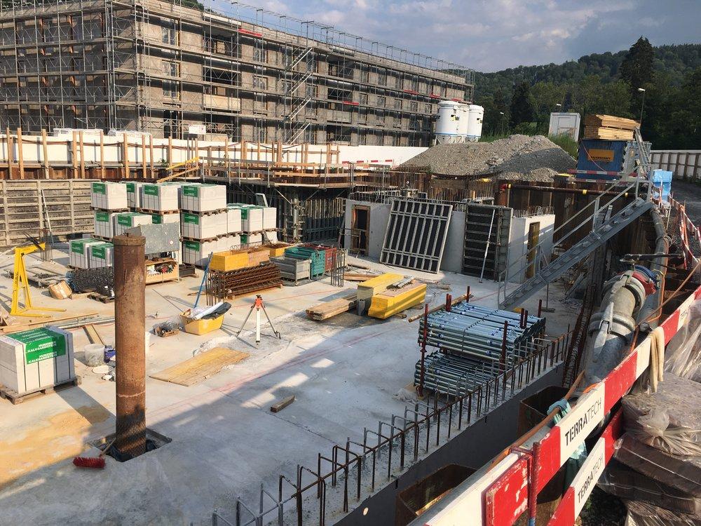 Boll Immobilien Verkauf Neubauprojekt Überbauung NIDO Sennhof Winterthur Zürich die Baumeisterarbeiten