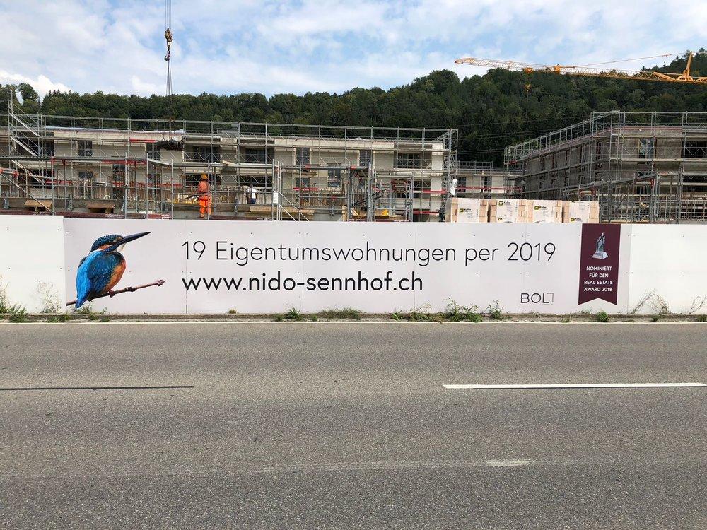 Überbauung NIDO Sennhof Winterthur Neubauprojekt Zürich Verkauf Boll Immobililen