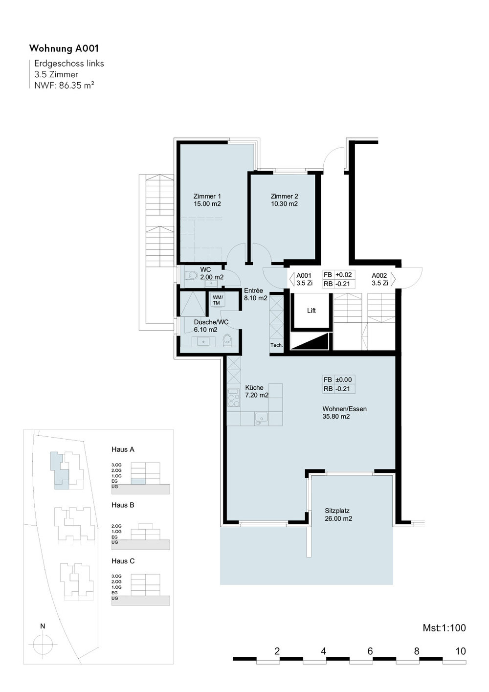 Überbauung NIDO Sennhof Winterthur 3.5 Zimmer-Gartenwohnung letzte Chance Wohnungskauf Verkauf Boll Immobilien