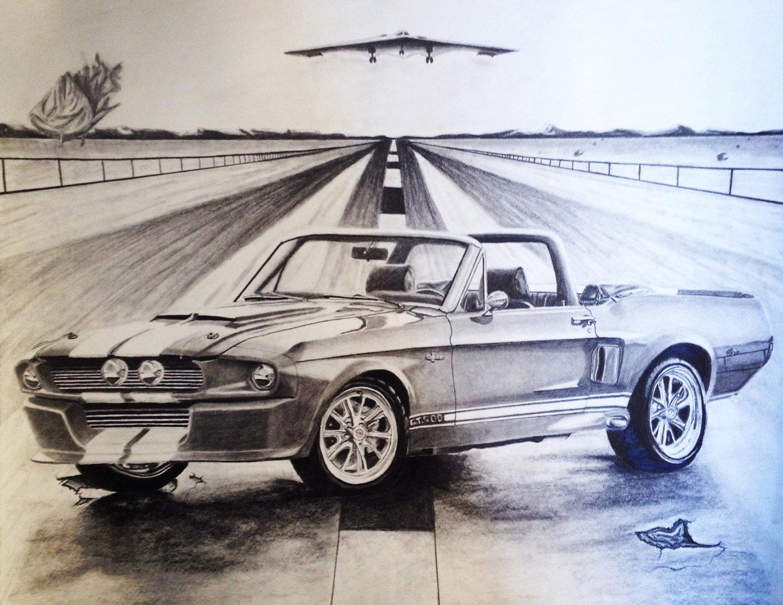 Mustang Gt 500 Drawn 2 Draw Logo Drawings