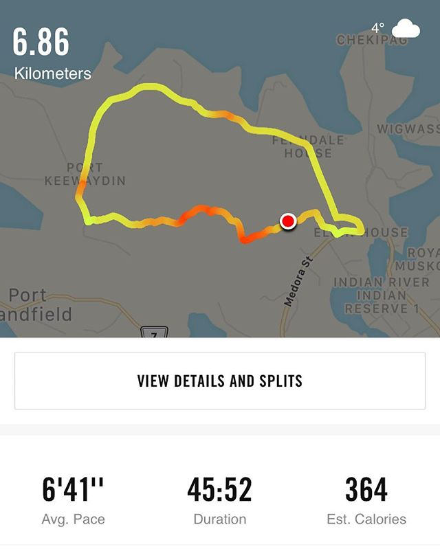 This was a tough run today, I just felt burnt out, but got through it thanks to @melissa_three03, Couldn't have done it without ya! We WILL conquer it next week! #muskokarunning #itshard #somanyhills #butworthit #lovetorun #getoutside #trailrunning #thankfulforgoodfriends