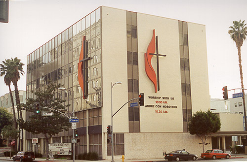 First United Methodist Church of Los Angeles, Flower and Olympic, 1981