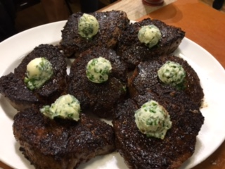 Porcini-Crusted Filet Mignon with Herb Butter