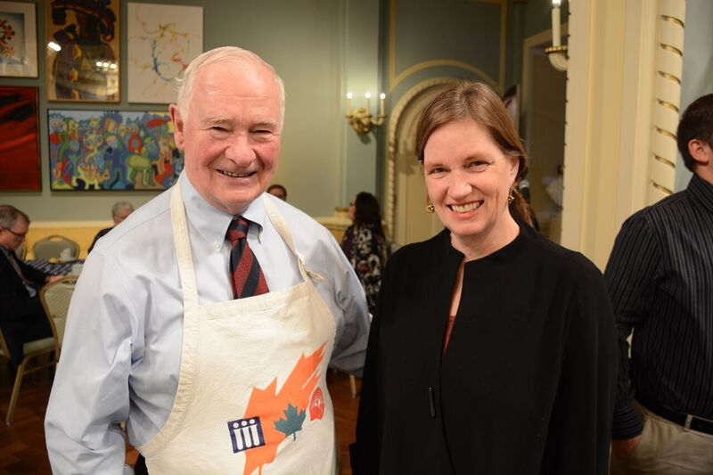 Governor General David Johnson personally thanked JoEllen Brydon for her contribution