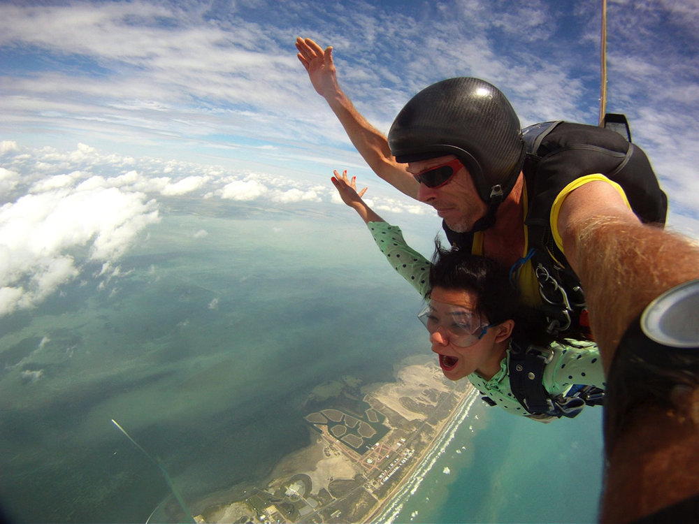 Skydiving on South Padre Island