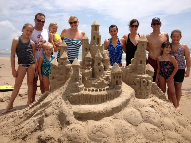 Sandcastle lessons on South Padre Island
