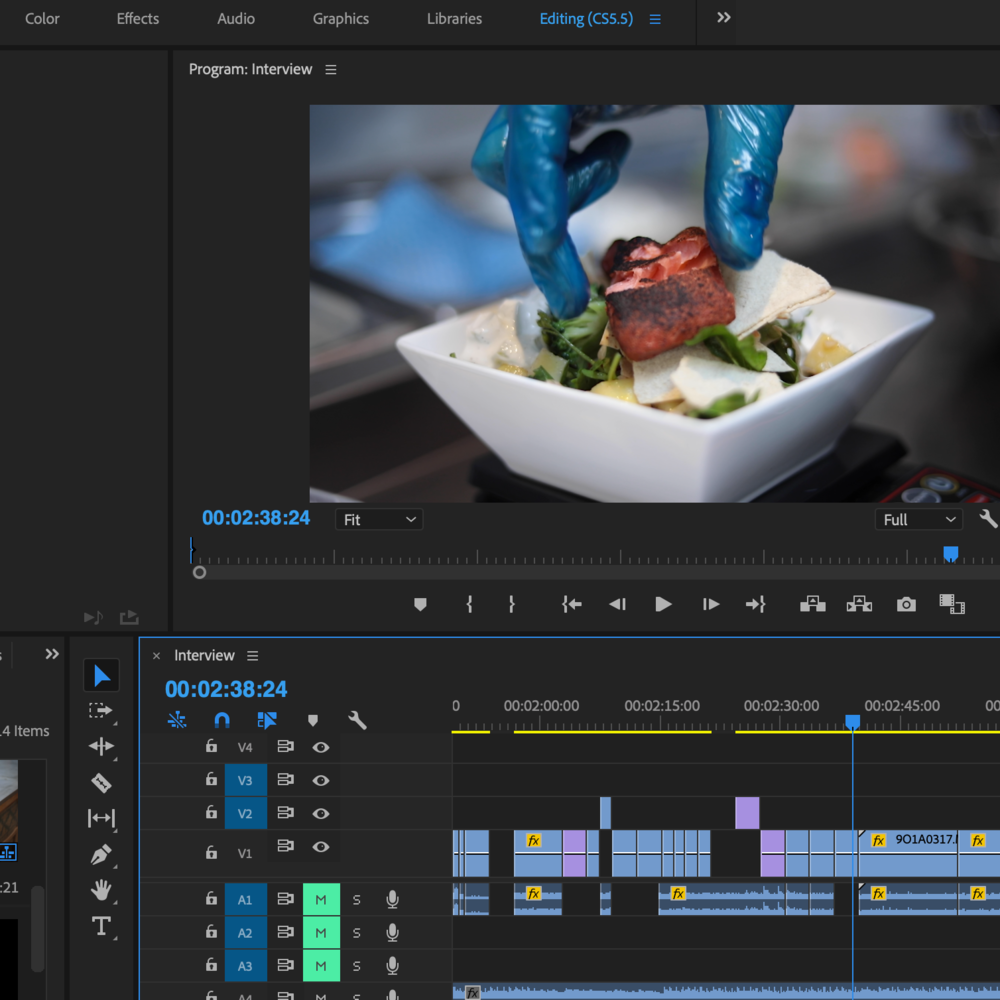 EDITING - Editing capabilities including the entire Adobe Creative Cloud Suite. Can edit to any brief with Adobe Premiere Pro and Adobe After Effects for text animations.