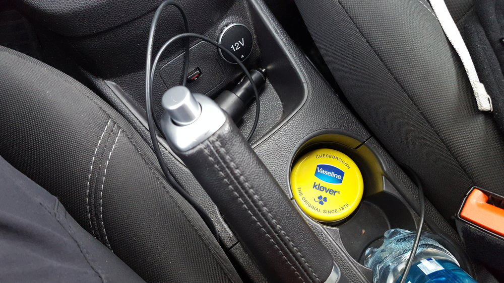 Picture 17 The CrossFit special equipment of the Fiesta was very practical. Here is the Vaseline tin holder. Congratulations to Ford on this development effort!