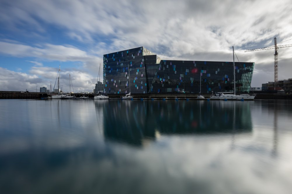 Abbildung 38 Konzertgebäude Harpa in Reykjavik von hinten