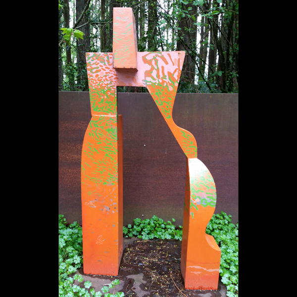 Gate (orange)  Painted steel, 1989, 74 x 40.5 x 15