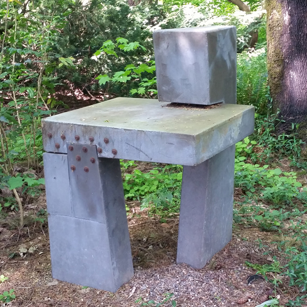 "Study Galvinized steel, 1975, 30"" x 35"" x 45"""