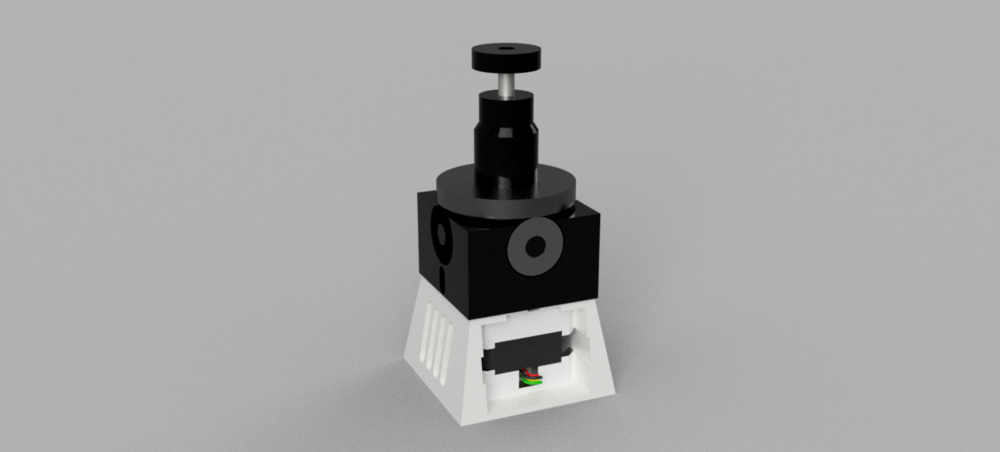 CAD model of pole mount