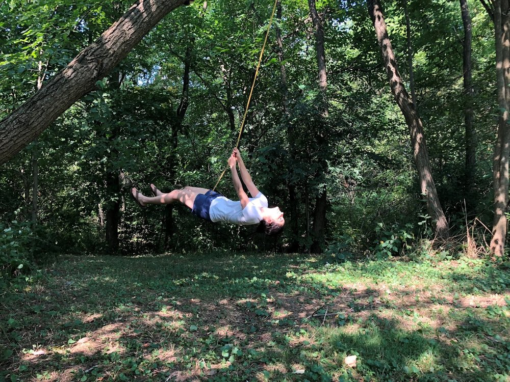 (yup, that's me swinging from a tree)