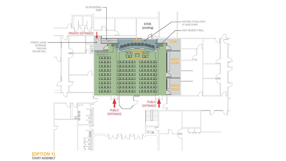 Floor Plan set up for City Court Hearings