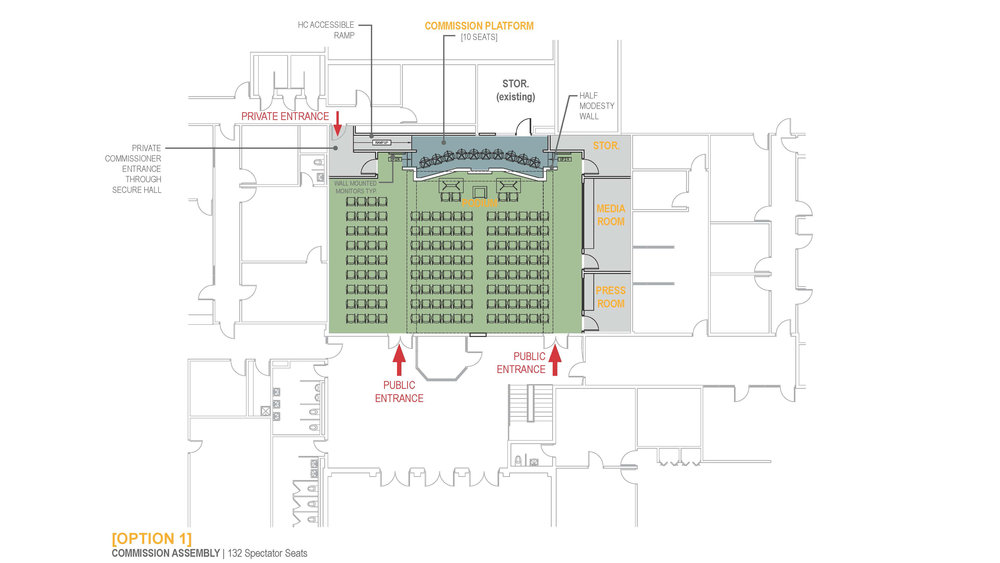 Floor Plan set up for Commission Meetings