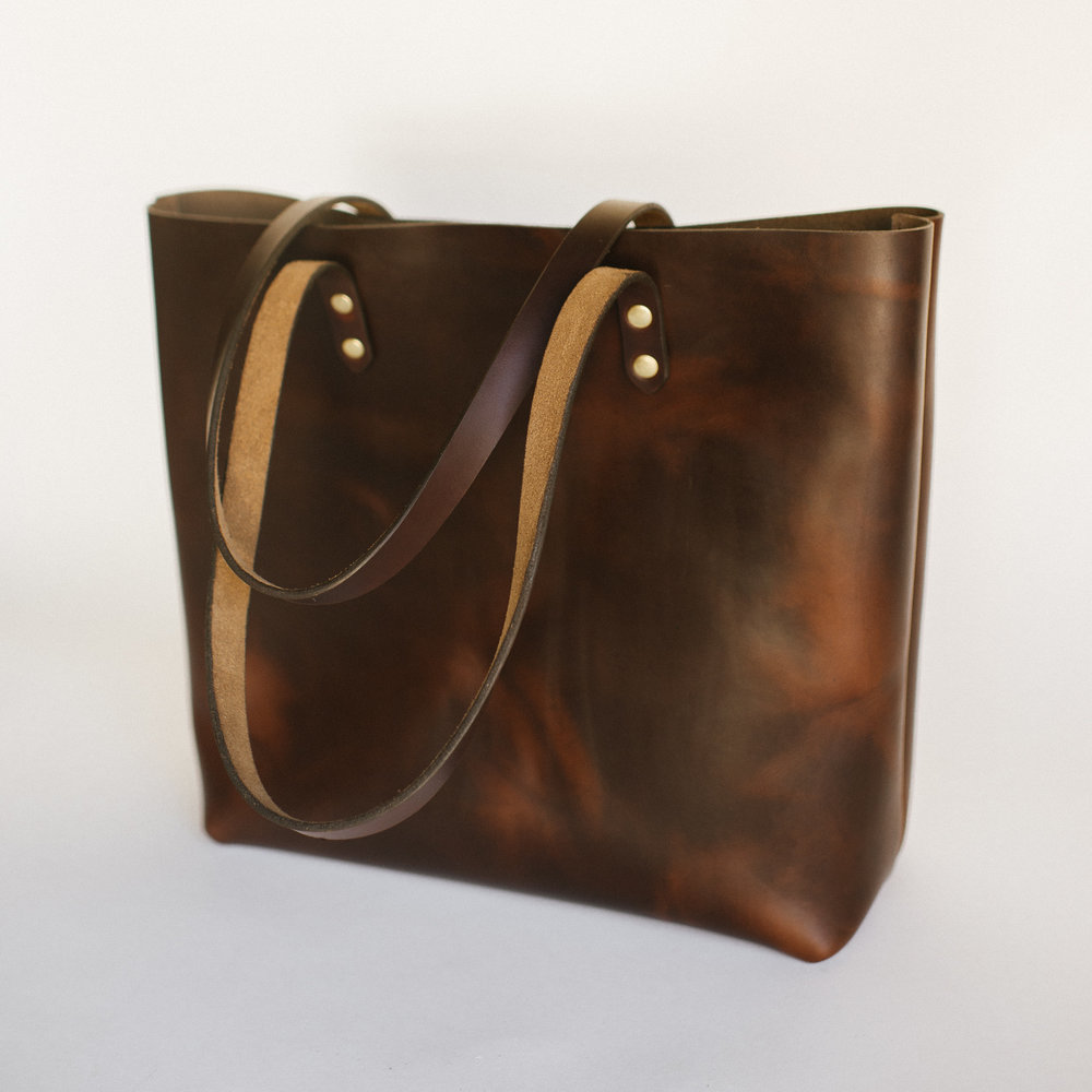 Leather Totes by Clayton & Crume