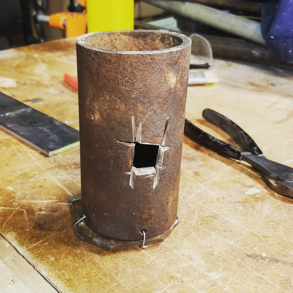My forge is ugly as hell, but it works and it didn't cost a dime.