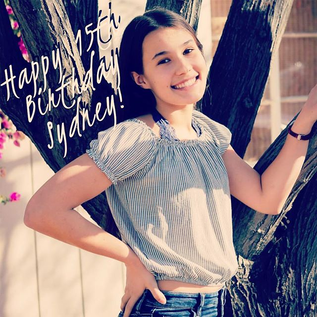 Wishing the happiest of birthdays to my niece Sydney. 15 years old! When did that happen?