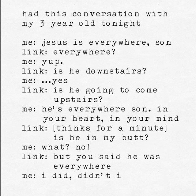 I had this conversation with my youngest tonight. #parenting #thingskidsdo #thingskidssay #fatherhood #dadlife #jiujitsu #jiujitsulifestyle #jiujitsu4life #jiujitsusavedmylife #jesus #jesuschrist #christian #christians #godisgood
