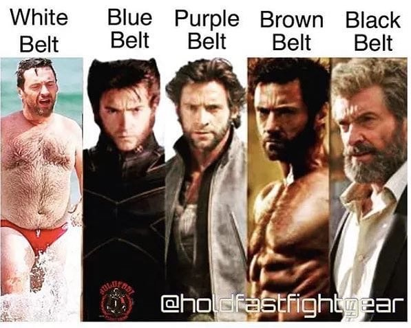 Uhhh, wait. I didn't get the memo. Where are my chiseled abs? Been a brown Belt for 3 years. Sooooo.... Hmmmm #jiujitsu4life #jiujitsu #jiujitsulifestyle #jiujitsusavedmylife #jiujitsumemes #brownbelt #jesus #jesuschrist #jesuscalling #christians #god #amwriting #amediting #authorsofinstagram #author