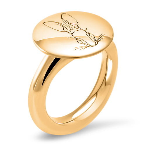 Ecological gold ring - Bracteate Collection by Hargreaves Stockholm