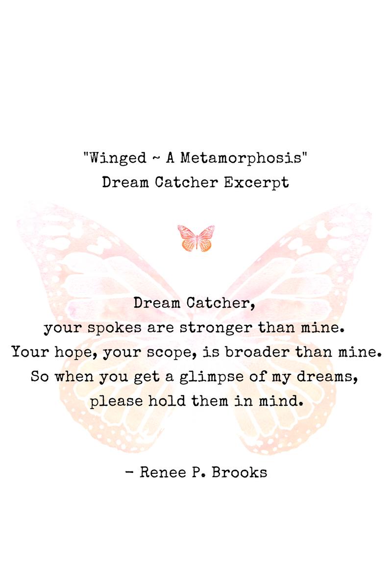 Winged Dream Catcher Poetry Excerpt