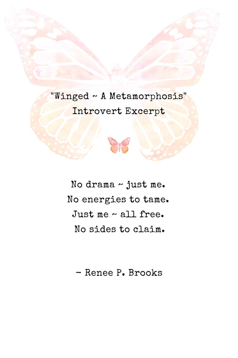 Winged Introvert Poetry Excerpt