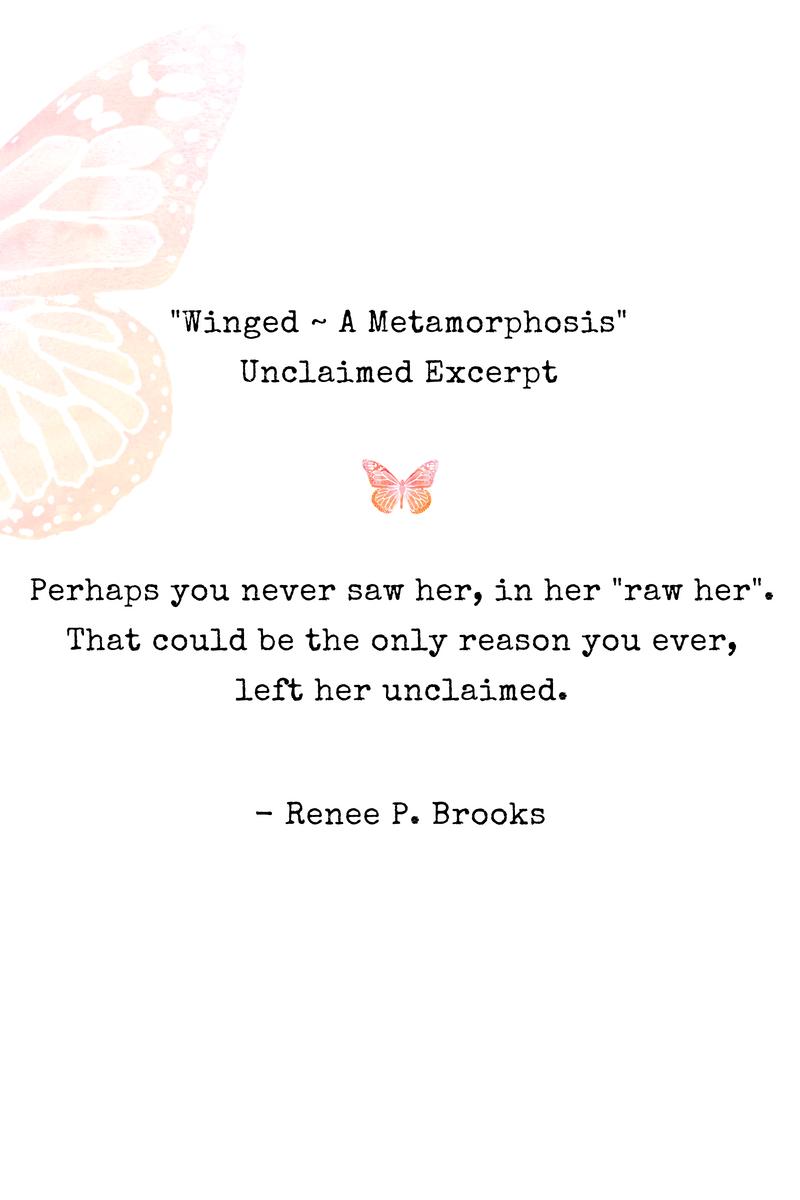 Winged Unclaimed Poetry Excerpt