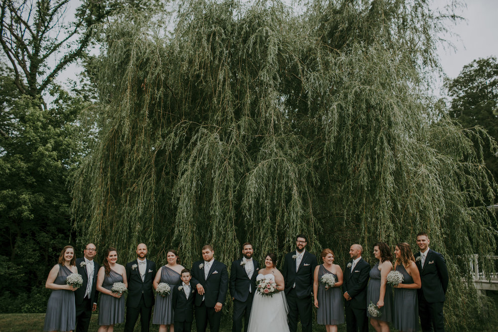 giacomo wedding hidden lake winery bridal party