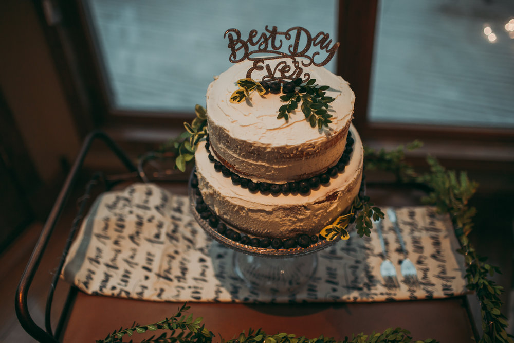 giacomo wedding hidden lake winery reception cake