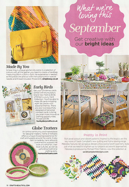 Crafts Beautiful, page 29, December 2015