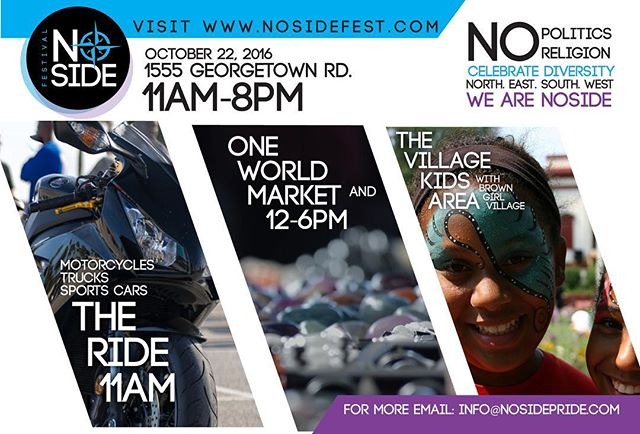 ... North. East. South. West. We take NO sides.  We ARE stronger, together.  NoSide Festival is an event to benefit creatives, entrepreneurs & non-profits. In providing multi-cultural programming and community awareness we offer an open platform for local artisans, businesses and organizations to unite, empower and diversify amongst the community.  Join the Tribe; be a vendor or sponsor today!  www.NoSideFest.com #NoSideFest (Link in Bio) #ShareTheLex #LexKY #Lexington #Kentucky #FrankfortKy #GeorgetownKY #Louisville #RichmondKy