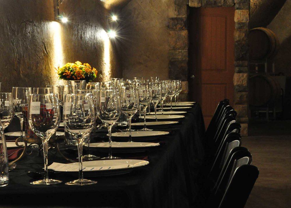 Our caves have hosted delicious events.