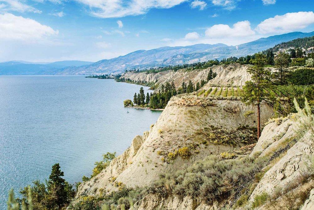 Overlooking Okanagan Lake on the Naramata Bench