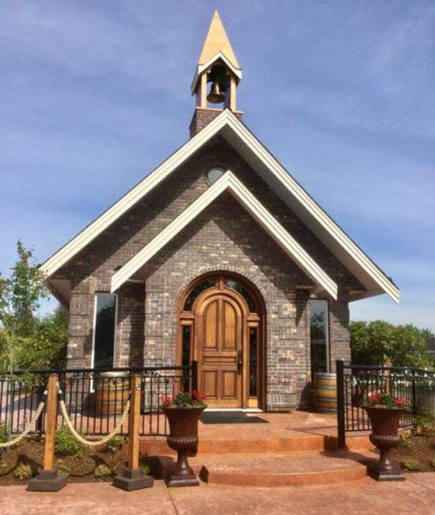 Visit our copper-spired Chapel Tasting Room