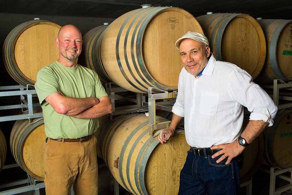 Winemaker, Bailey Williamson, and proprietor, Paul Brunner.